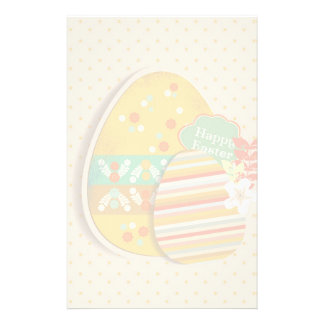 Greeting card with Easter egg symbol Custom Stationery