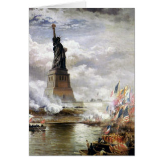 Greeting Card With Edward Moran Painting