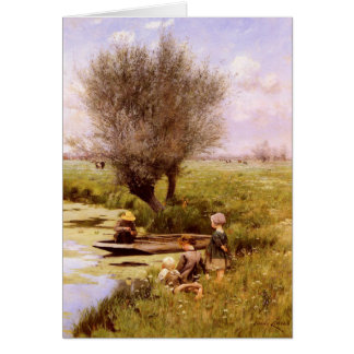 Greeting Card With Emile Claus Painting