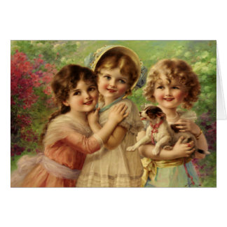 Greeting Card With Emile Vernon Painting