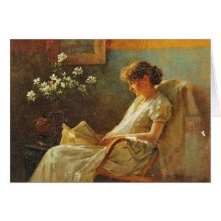 Greeting Card With Eva Dora Cowdery Painting