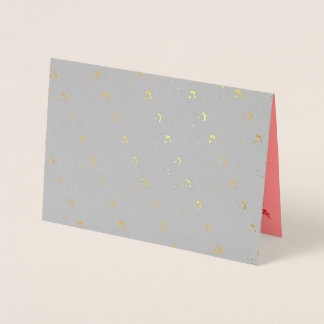 Greeting card with Foil Embossed Gold Butterfly