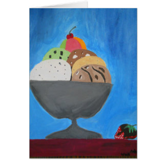 """Greeting Card with """"Ice Cream"""" by Amber Larsen"""