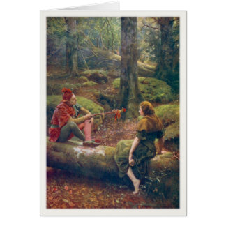 Greeting Card With John Collier Painting