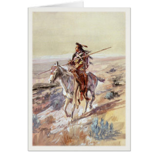 Greeting Card With Painting Of Native American