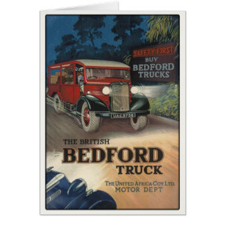 Greeting Card With Vintage Bedford Truck Print