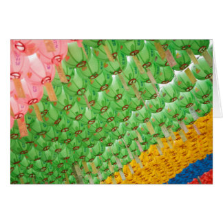 Greeting Cards: Colorful Korean Paper Lamps Card