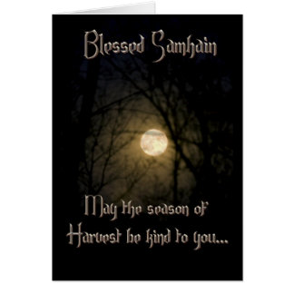 Greeting Cards: Samhain Blessings Card