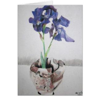 "Greeting Cards with ""Purple Iris"" by Amber Larsen"