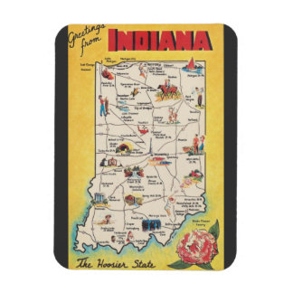 Greeting from Indiana vintage magnet