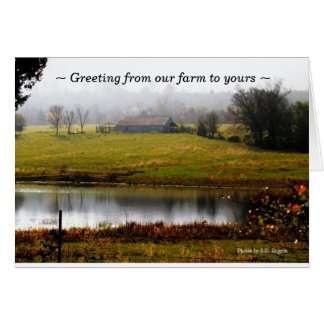 Greeting from our farm to yours card