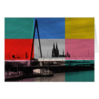 Greeting map Cologne Card