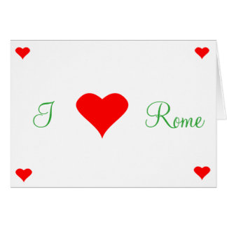Greeting map - I like Rome - Vector Card