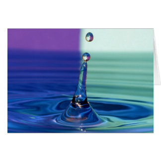Greeting map water drop card