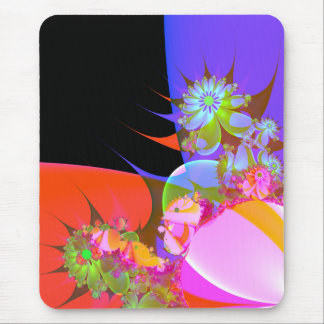 greeting of fractal flowers 2 mouse pad