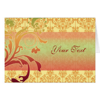 Greeting or Invitation card Orange red green
