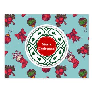Greeting postcard for Christmas.