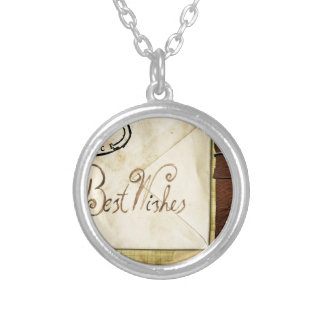 Greeting Silver Plated Necklace