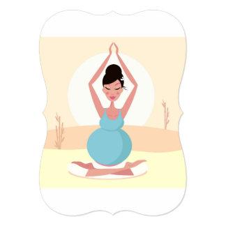 Greeting with yoga Girl Card