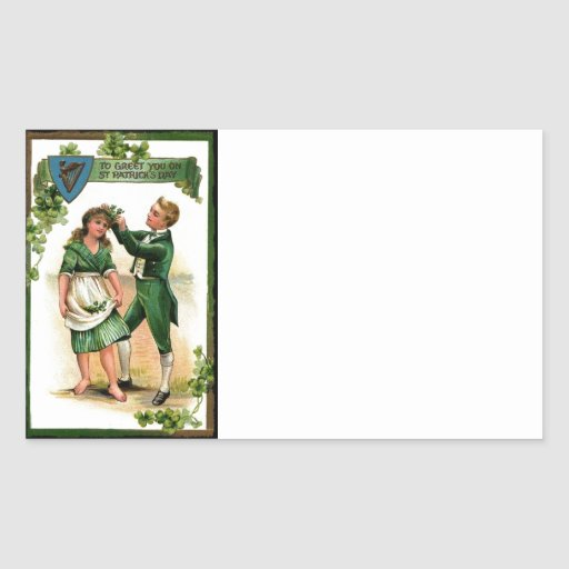 Greeting You on St Paddy's Day Rectangular Stickers