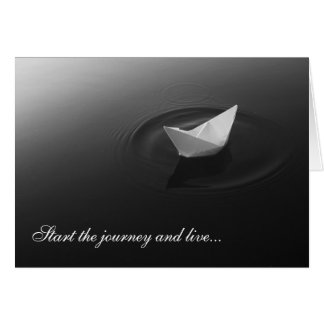 GreetingCard: Start the journey and live Card