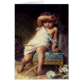 Greetingcard With Emile Munier Painting Greeting Card