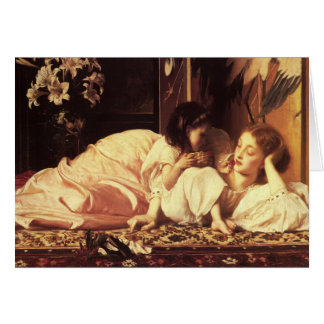 Greetingcard With Lord Frederick Leighton Painting Card