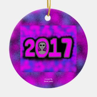 Greetings 2017 Circle Ornament