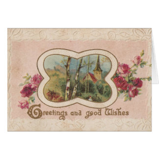 Greetings and Good Wishes Greeting Card