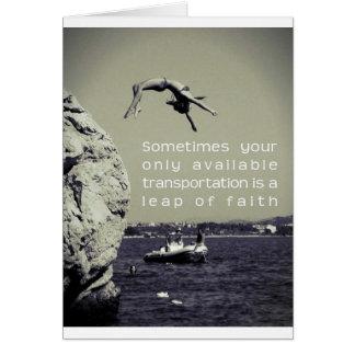 Greetings Card - Leap of Faith