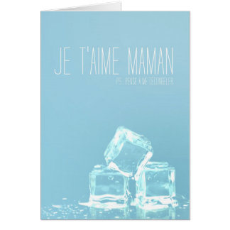 Greetings card Mother's Day - frozen