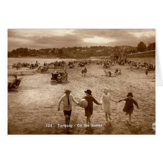 Greetings Card - On The Sands at Torquay