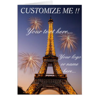 Greetings card Paris - Eiffel Tower #2