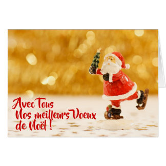 Greetings card patinating Father Christmas