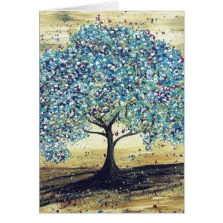 Greetings card - Promotion - Beautiful Blue Tree