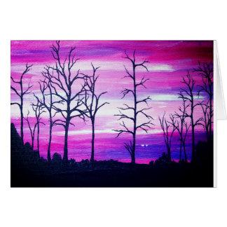 Greetings card - Promotion - Pink Landscape