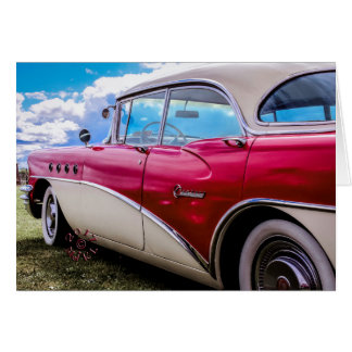 Greetings card showing a 1955 Buick Century.