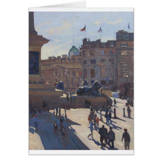 Greetings Card - Trafalgar Square, into the light.