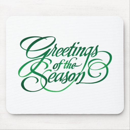 Greetings for the Season - Green Mousemats