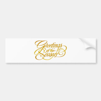 Greetings for the Season - in Yellow/Gold Bumper Sticker
