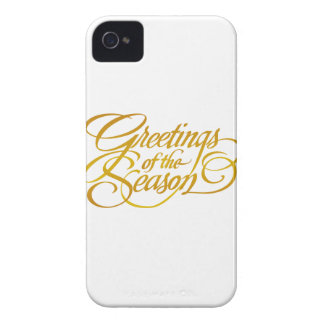 Greetings for the Season - in Yellow/Gold iPhone 4 Case-Mate Cases