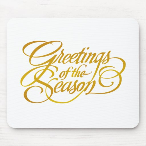 Greetings for the Season - in Yellow/Gold Mousemat