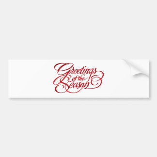 Greetings for the Season - Red Bumper Sticker