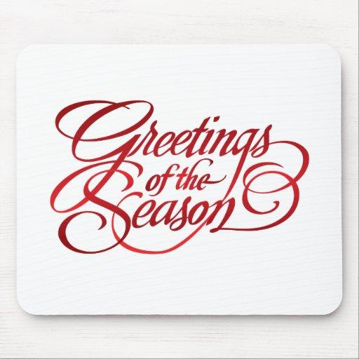 Greetings for the Season - Red Mousepad
