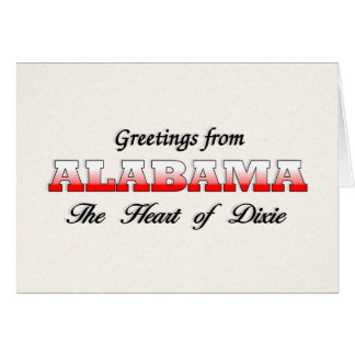 Greetings from Alabama Greeting Card