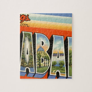 Greetings From Alabama Jigsaw Puzzle