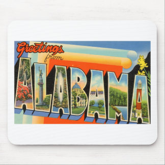 Greetings From Alabama Mouse Pad