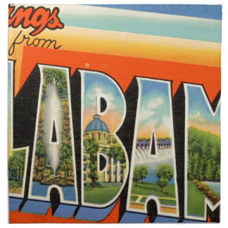 Greetings From Alabama Napkin