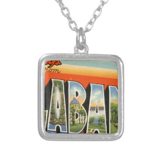 Greetings From Alabama Silver Plated Necklace