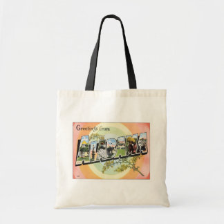 Greetings From Alabama Tote Bags
